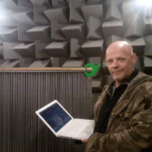 Yours truly in the Anechoic Chamber in Salford University