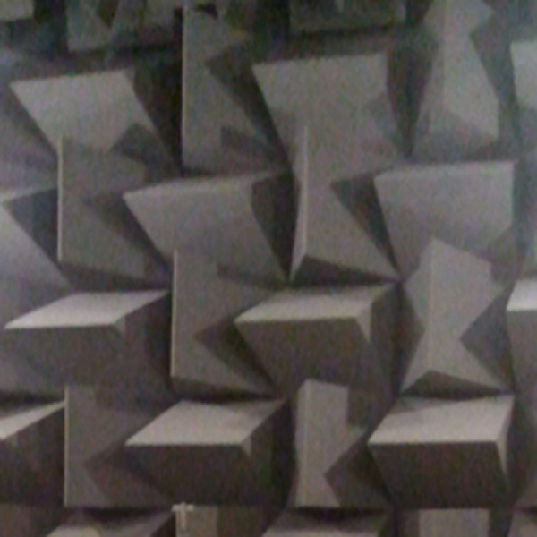 Foam Padding on the wall in the Anechoic Chamber