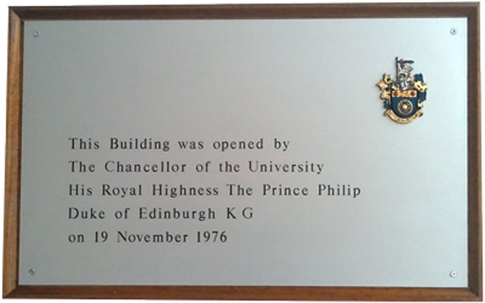 Click Photo to Enlarge opening of The Newton Building plaque.